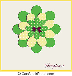 Card with a flower