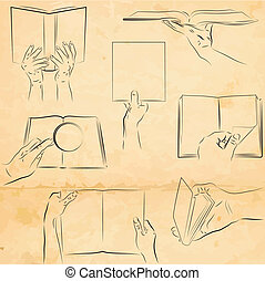 Hands with a book
