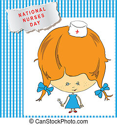 Nurses Day cheerful poster