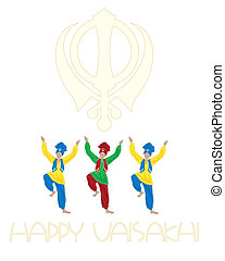 punjabi festival - an illustration of a sikh vaisakhi...