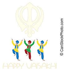 punjabi festival - an illustration of a sikh vaisakhi...