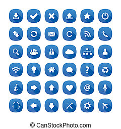 Long shadow style icons