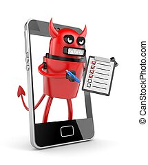 Contract with devilmobile operator - Business concept...
