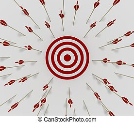 Target miss - Tens of arrows that have missing the target
