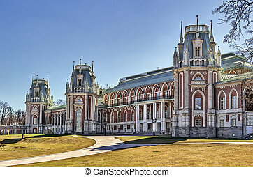 Tsaritsyno Park, Moscow - The main palace in Tsaritsyno park...