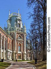 Tsaritsyno Park, Moscow - The main palace in Tsaritsyno park...