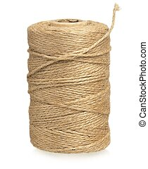 Twine cord - Roll of twine cord isolated on white background...