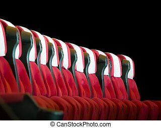 Theater seats - Comfortable, red, theater seats isolated on...