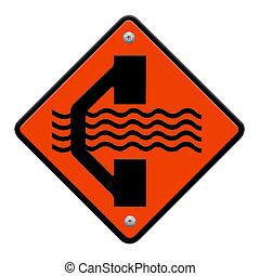 Detour traffic sign
