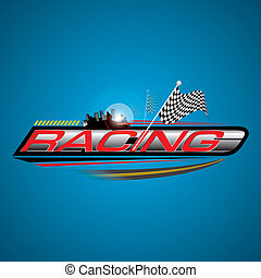 Racing with Checkered Flags Concept Vector - The Abstract of...