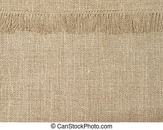 Natural linen texture pattern with fringeAbstract background...