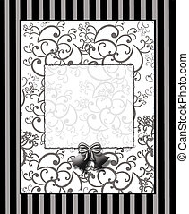 Black and White Graphic - Background black and white with...