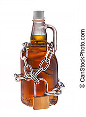 Alcohol abuse, isolated - alcohol abuse concept - background...