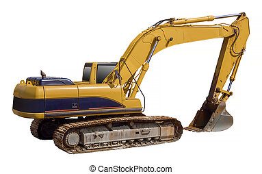 Excavator shovel equipment, isolate - excavator loader...