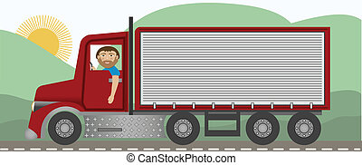 The Trucker - A trucker driving on the highway in a big rig