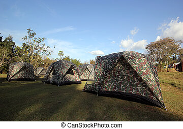 Tents at a camp site