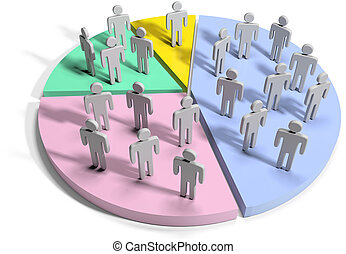 Financial data statistics business people - Groups people as...