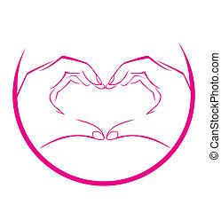 Love Hand Symbol