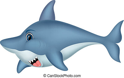 Shark cartoon character