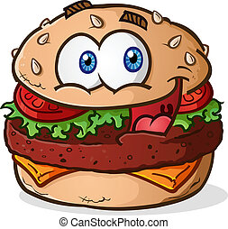 Hamburger Cheeseburger Cartoon - A simple hamburger...