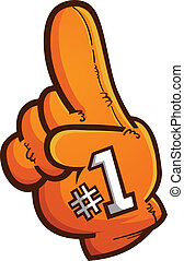Foam Finger Vector Cartoon Graphic - A giant foam finger...