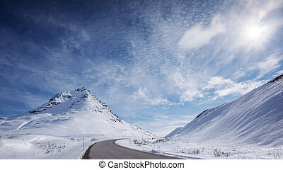 Haines Hwy in Winter - Haines Hwy near the Haines Pass in...