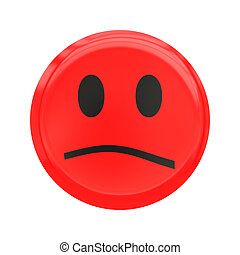 Feelings - The face expressing feeling. Expression of anger