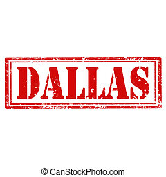 Dallas-stamp - Grunge rubber stamp with text Dallas,vector...