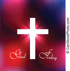 Good Friday background Cross for colorful design...