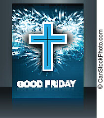 Beautiful card for good friday brochure template Cross...