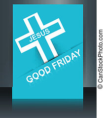 Beautiful card colorful religious background for good friday...