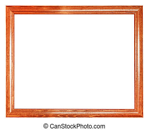 simple brown wooden picture frame with cut out canvas...