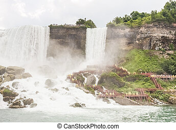 Niagara Falls - The Cave of the Winds and the Bridal Veil...