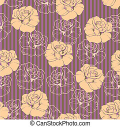 Vector tile floral rose wallpaper