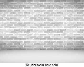 Old Brick Wall - Old white brick wall, vector eps10...