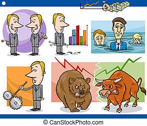 businessmen cartoon concepts set - Concept Cartoon...