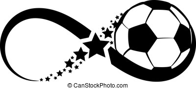 Soccer Infinity - The infinity symbol with a ball in the...