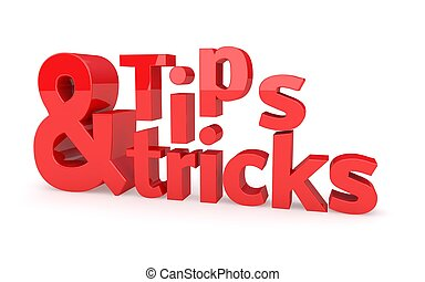 Tips and tricks icon on a white background. 3D illustration....