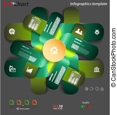 Stylized presentation,option template for interactive data...