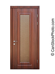 brown door isolated on a white background