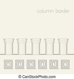 column border - Roman pillars and masonry, architectural...