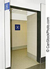 Women bathroom - Public women restroom entrance