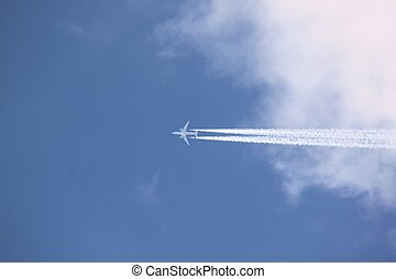 Flying out of the clouds - This plane flew through thru the...