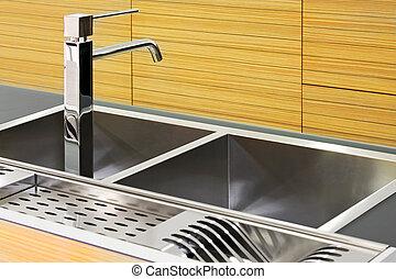Square kitchen sink