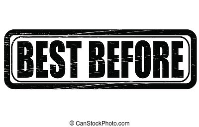 Best before - Stamp with text best before inside, vector...