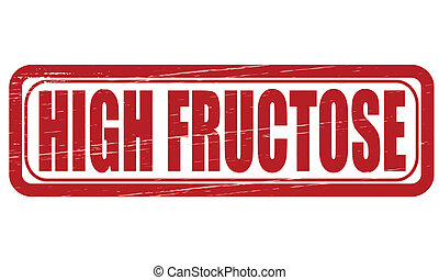 High fructose - Stamp with text high fructose inside, vector...