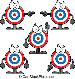 Set of Cartoon Bulls Eye - Illustrated set of cartoon bulls...