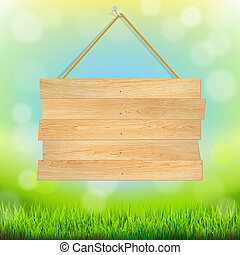 Summer Banner With Grass, With Gradient Mesh, Vector...