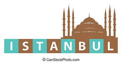Istanbul, Turkey - Istanbul, Hagia Sophia Illustration.