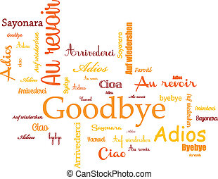 Background goodbye - background wtih goodbye and ciao, and...